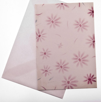 Card (GCM-DAF) : Printed Card with Flowers, envelope included. (2.5 x 3.75 inchs)Writed by hand.