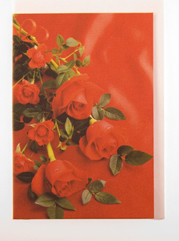 Card (Rose) : Printed Card with Roses, envelope included. (2.5 x 3.5 inchs) Writed by hand.