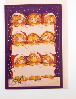 Card (Christmas) : Printed Card Christmas, envelope included. (2.5 x 3.5 inchs) Writed by hand.