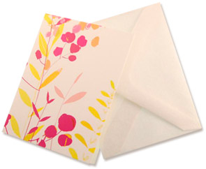 Card (Plant) : Printed Card with plant, envelope included. (2.5 x 3.25 inchs)Writed by hand.