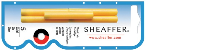 Sheaffer Ink cartridge, Refill & ink series Gold ink