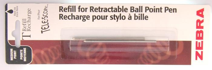 Zebra  Refill (Ballpoint), Refill & ink - Recharge & encre serie Blue ink