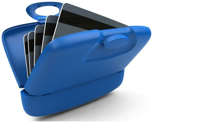 Capsul Card case, Matt serie Blue