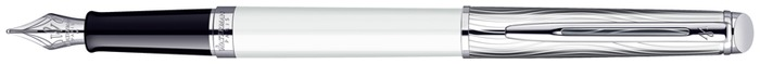 Stylo plume Waterman, série Hémisphère New Generation Blanc/Palladium CT