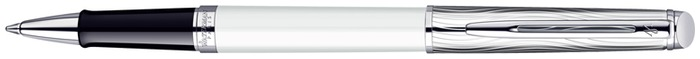Stylo bille roulante Waterman, série Hémisphère New Generation Blanc/Palladium CT