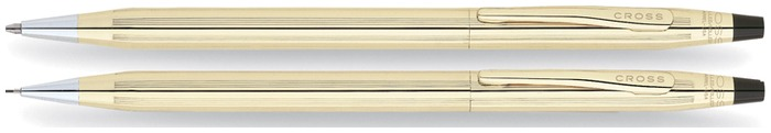 Cross Set ballpoint & pencil (0.7mm), Classic Century series 10kt gold