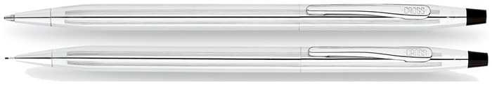 Cross Set ballpoint & pencil (0.7mm), Classic Century series Chrome