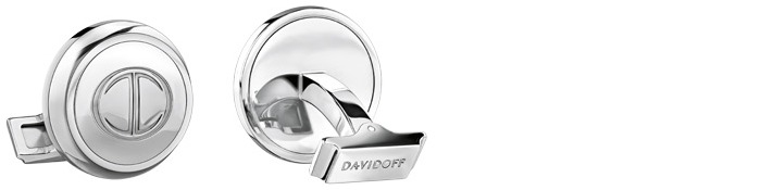 Davidoff Cufflink, Men's Accessories series Steel