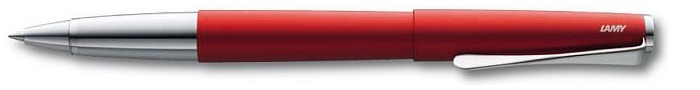 Stylo bille roulante Lamy, série Studio Rouge Royal