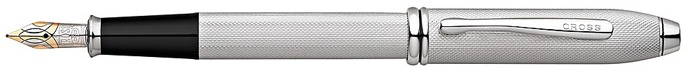 Cross Fountain pen, Townsend series Brushed Platinum