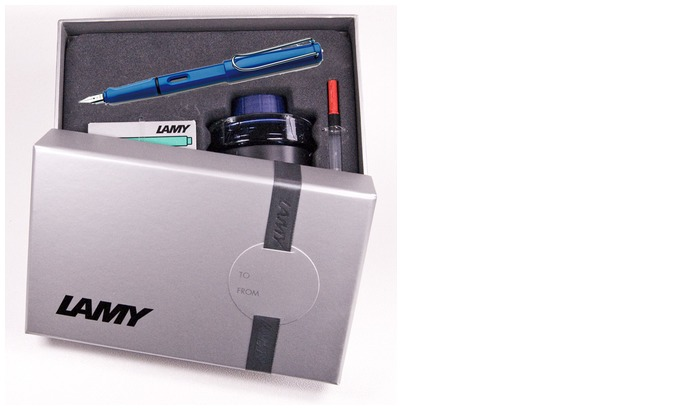 Lamy Fountain pen set, Safari series Blue
