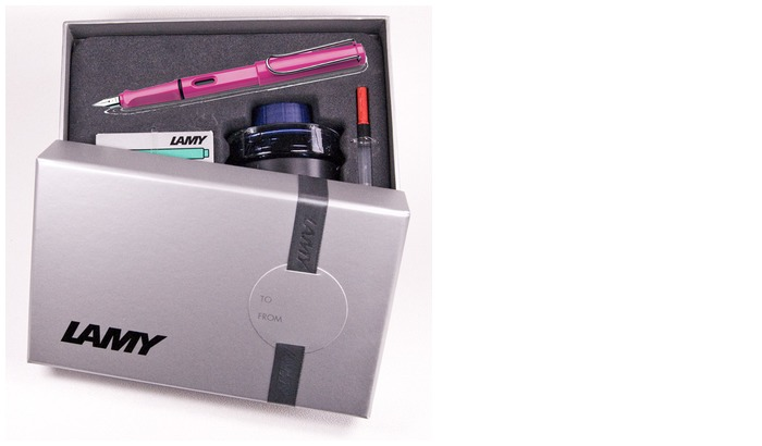 Lamy Fountain pen set, Safari series Pink