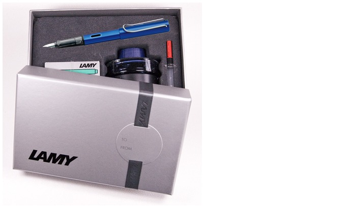 Lamy Fountain pen set, AlStar series Midnight blue