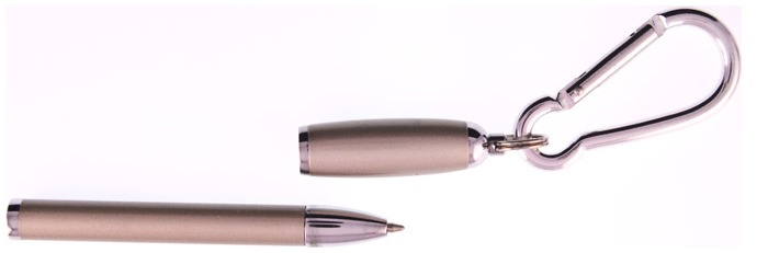 PenUSA Ballpoint pen, Magnetic series Satin Nickel (With Carabiner)