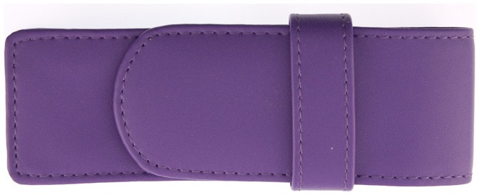 Royce Leather Pouch, Pen Cases series Purple (2)