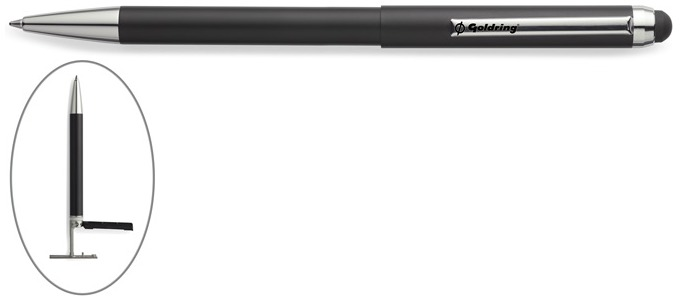 Trodat Ballpoint pen with stamp, Goldring Smart series Black