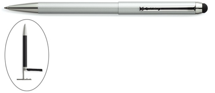 Trodat Ballpoint pen with stamp, Goldring Smart series Silver