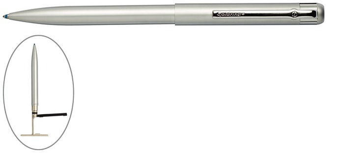 Trodat Ballpoint pen with stamp, Goldring Style series Silver