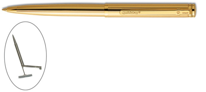 Trodat Ballpoint pen with stamp, Goldring Automatic series Gold