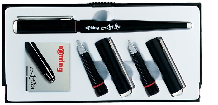 Rotring callygraphy Fountain pen set, Art Pen series Black