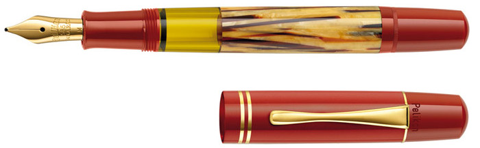 Pelikan Fountain pen, Souverän M101N tortoiseshell series Red