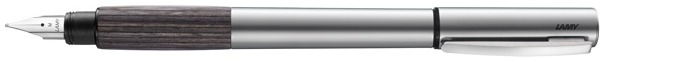 Lamy Fountain pen, Accent AL series Palladium (Grey wood grip)