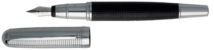Hugo Boss Fountain pen, Grid series Black