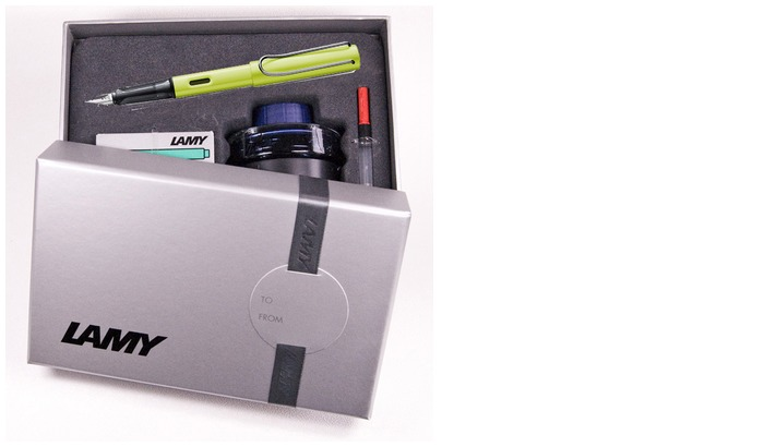 Lamy Fountain pen set, AL-star Special Edition 2016 series Charged green CT
