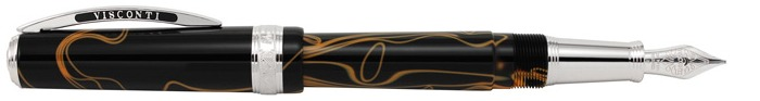Stylo plume Visconti, série Manhattan 2016 LTD. Edition Noir & Orange POINTE SPÉCIALE