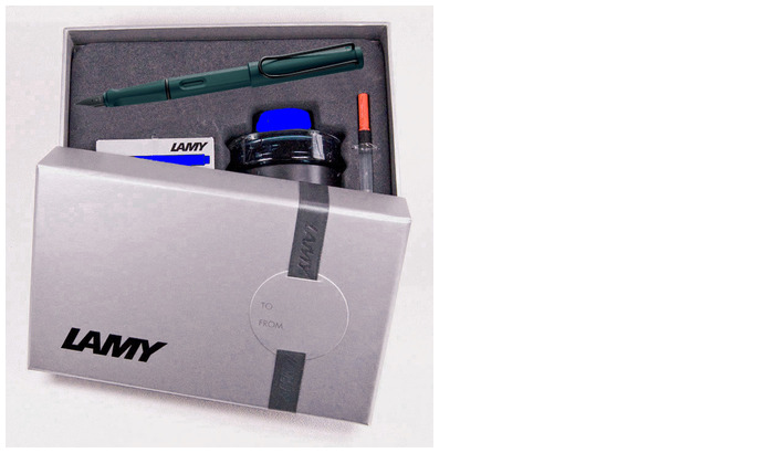 Lamy Fountain pen set, Safari Special Edition 2017 series Petrol blue