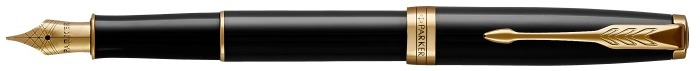 Parker Fountain pen, Sonnet Classic series Black lacquer GT (Golden nib in stainless steel)