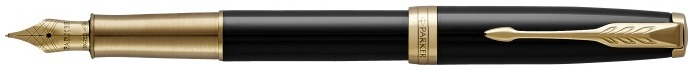 Parker Fountain pen, Sonnet Classic series Black lacquer GT (18K gold nib)