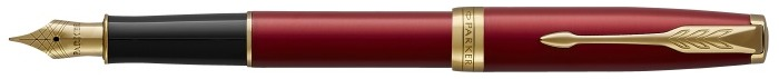 Parker Fountain pen, Sonnet Classic series Red GT (Golden nib in stainless steel)