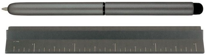 MonteVerde Stylus for touchescreen (iPad), Calibra 4-in-1 series Gray