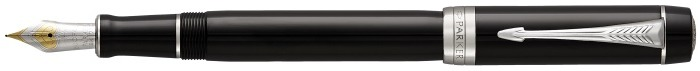 Parker Fountain pen, Duofold Classic series Black CT (Centennial)