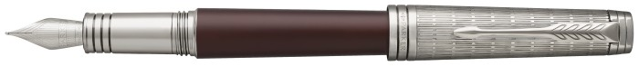 Parker Fountain pen, Premier Custom series Red/Ruthenium