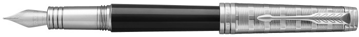 Parker Fountain pen, Premier Custom series Black lacquer/Palladium