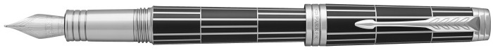 Parker Fountain pen, Premier Luxury series Black Matte/Palladium