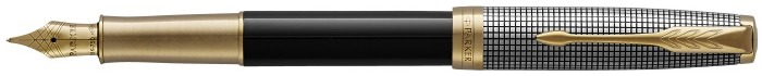 Parker Fountain pen, Sonnet Classic series Black/Chiseled Silver GT