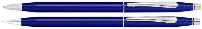 Cross Set ballpoint pen & mechanical pencil (0.7mm), Classic Century series Blue lacquer CT