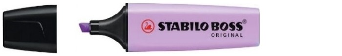 Stabilo Highlighter, Boss Original Pastel series Lilac ink