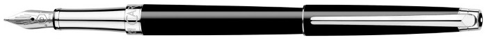 Caran d'Ache Fountain pen, Léman Slim series Black ebony CT