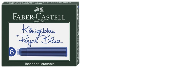 Faber-Castell Ink cartridge, Refill & ink series Royal blue ink