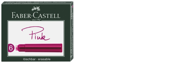 Faber-Castell Ink cartridge, Refill & ink series Pink ink