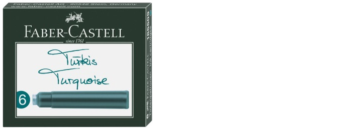 Faber-Castell Ink cartridge, Refill & ink series Turquoise ink