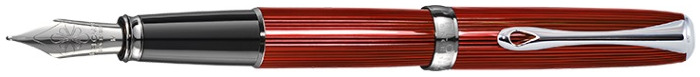 Diplomat Fountain pen, Excellence A² series Skyline red CT