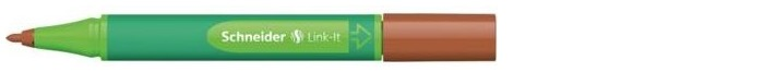 Schneider Felt pen, Link-It series Mahogany brown ink (1.0mm)