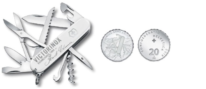 Couteau Victorinox, série Karl Elsener Commemorative Coin Set 2018