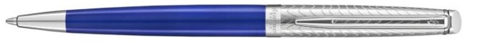 Waterman Ballpoint pen, Hemisphere 2018 Deluxe series Blue/Brushed stainless steel