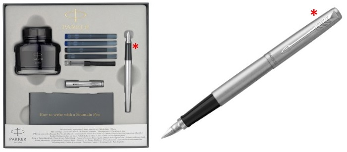 Parker Fountain pen set, Jotter Essential series Stainless steel CT